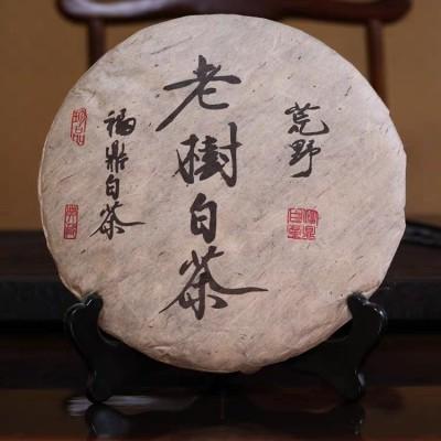 老白茶贡眉茶饼福鼎白茶350g 2012年寿眉荒山茶饼日晒叶干仓存储