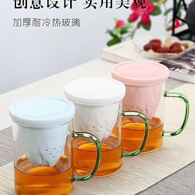 泡茶杯/玻璃泡茶杯/耐高温玻璃泡茶杯/茶杯/茶具/办公泡茶杯/主人杯