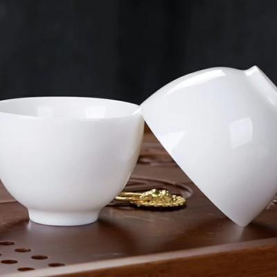 茶杯/主人杯/羊脂玉瓷主人杯/羊脂玉瓷茶杯/茶具/茶器