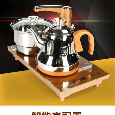 家禄福电茶快速炉烧水壶自动抽上水三四合一茶道茶具茶盘配件套装
