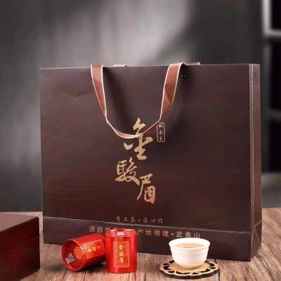 金骏眉红茶礼盒装茶叶特级正宗新年货桐木关金俊眉浓香型岩茶500g