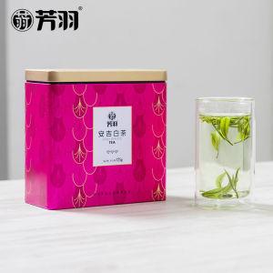 2020新茶上市芳羽安吉白茶雨前一级春茶正宗绿茶叶罐装浓香125克