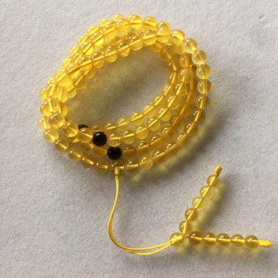 琥珀念珠/天然琥珀念珠/天然琥珀项链/俄料金珀念珠/俄料金珀项链/手串