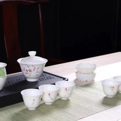 陶瓷茶具套装/羊脂玉瓷茶具套装/功夫茶具套装/白瓷茶具套装/茶具包邮