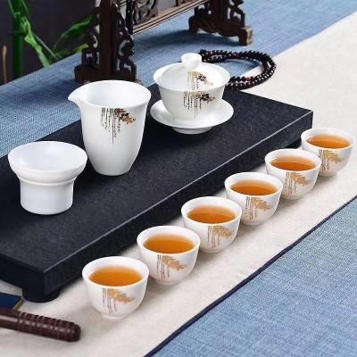 茶具/羊脂玉瓷茶具套装/白瓷茶具套装/功夫茶具套装