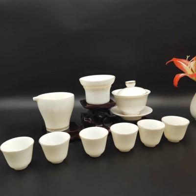茶具/羊脂玉瓷茶具套装/白瓷茶具套装/功夫茶具套装/高档茶具包邮