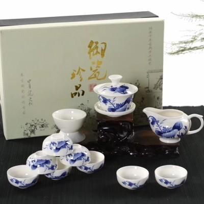 茶具/茶具套装/功夫茶具套装/白瓷茶具套装/青花瓷茶具套装/茶具包邮