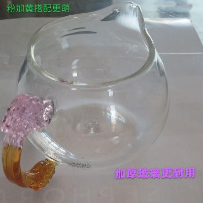 杯子女玻璃公道杯龙茶具茶盘龙把大尖嘴耐热高温玻璃加厚公道杯