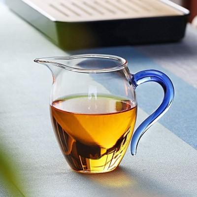 水晶公道杯多颜色高颜值加厚耐热水晶防烫玻璃台湾高洼胶玻璃茶壶
