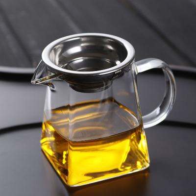 加厚玻璃公道杯 公杯茶漏套装耐热大号茶海 分茶器功夫茶具配件