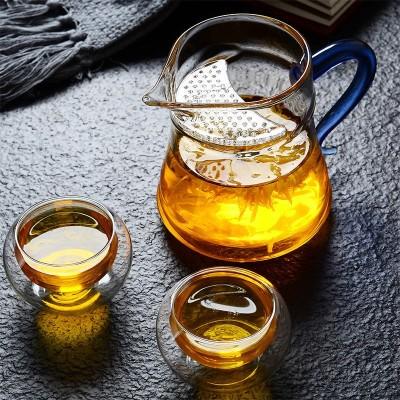 加厚玻璃茶具公道杯 泡茶玻璃茶具鹰嘴月牙杯分茶器公道杯茶海