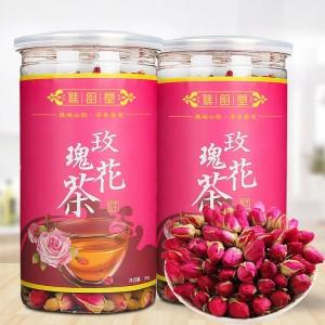 谯韵堂 玫瑰花茶100g/罐 干玫瑰重瓣红玫瑰花茶花草茶