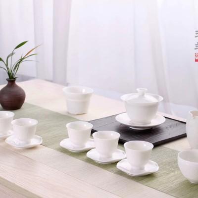 茶具套装/功夫茶具套装/白瓷茶具套装/羊脂玉瓷茶具套装