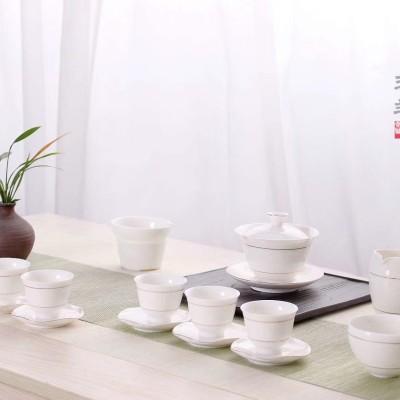 金边茶具套装/茶具套装/陶瓷茶具套装/功夫茶具套装