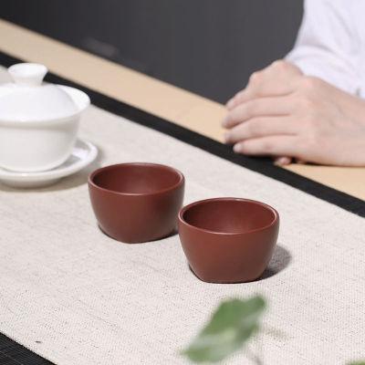 宜兴紫砂茶杯代理原矿大红袍主人小号主人杯100毫升