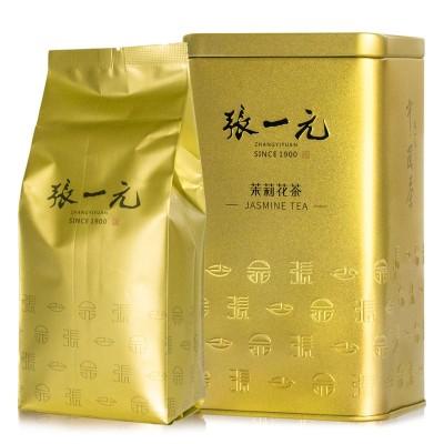 张一元茉莉花茶茉莉毛尖金桶特级浓香型2020新茶200g