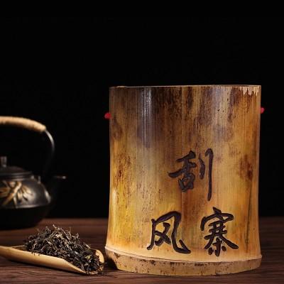 品名:2016年易武刮风寨竹筒茶散茶规格:1000g/桶