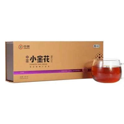 中粮中茶安化黑茶 中茶小金花餐后茶 茯茶散茶 礼盒装120g