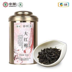 中粮中茶蝴蝶牌茶叶大红袍乌龙茶罐装75gDD001罐