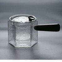 侧把煮茶壶玻璃煮茶器加厚耐热过滤泡茶壶木把青柑分茶器蒸茶壶 500毫升