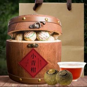 正宗新会小青柑普洱茶宫廷陈皮橘普茶木桶礼盒装500g