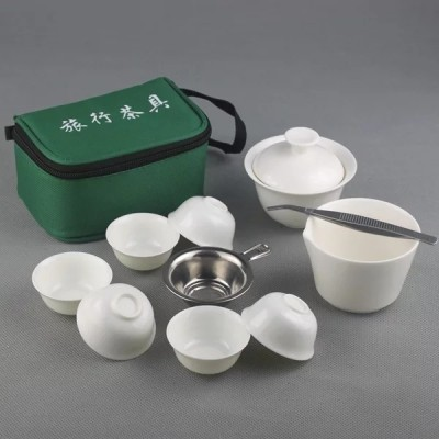 旅行茶具套装/茶具套装/便携茶具套装/茶具/白瓷茶具套装/玉瓷茶具套装