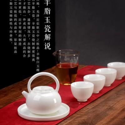 茶具套装/陶瓷茶具套装/羊脂玉瓷茶具套装/白瓷茶具套装