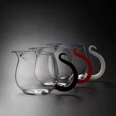 老鼠公杯2020年新款福鼠公道杯玻璃耐高温透明创意公杯分茶器透明