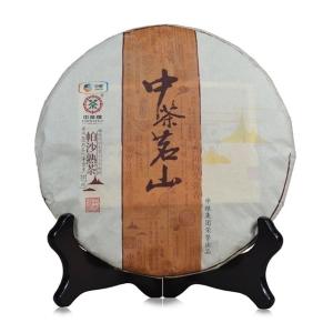 中茶 2017年 中茶茗山系列 帕沙 古树 熟茶 357g 普洱茶 饼茶
